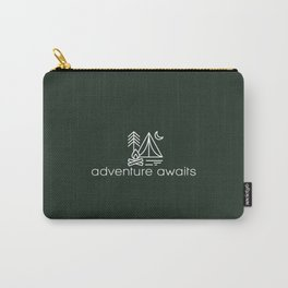 adventure awaits, camping, wildlife, outside, adventure, nature Carry-All Pouch