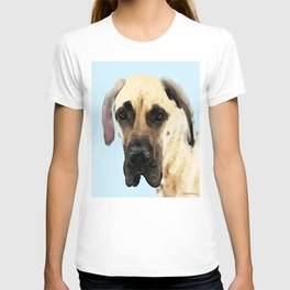 Great Dane Art - Dog Painting by Sharon Cummings T-shirt