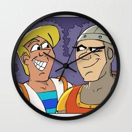 Laser Disc Heroes Wall Clock