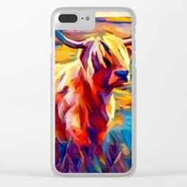 Highland Cow 4 Clear iPhone Case