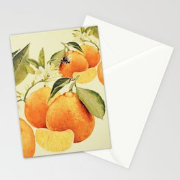 Oranges and their blossoms Stationery Cards
