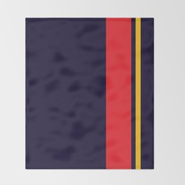 Navy Racer Throw Blanket