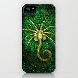 Facehugger (green) iPhone Case