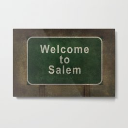 Welcome to Salem Metal Print