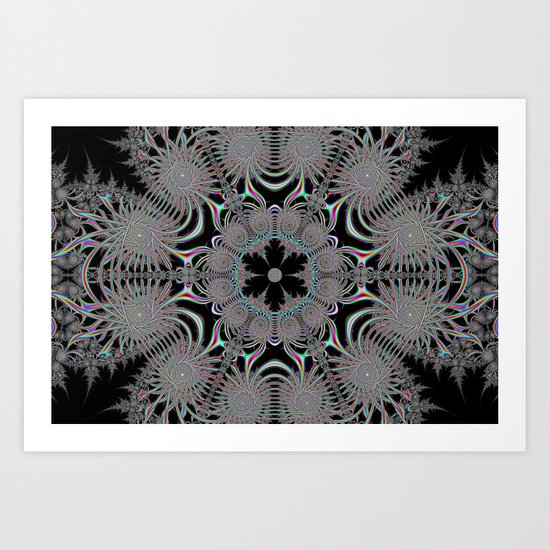 Coloured Snowflake Art Print