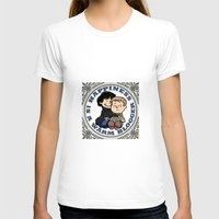 johnlock T-shirts featuring Happiness Is A Warm Blogger by Marlowinc