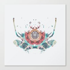 Inkdala XII - Rainbow Rorschach Art Canvas Print