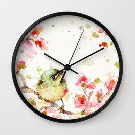 Mr Fluffy Pants (bird) Wall Clock
