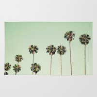 palm trees Area & Throw Rugs featuring Palm Trees  by Laura Ruth