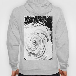 Roses For A Romantic Heart, Black and White Hoody