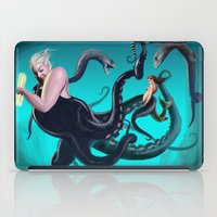 ursula iPad Cases featuring Ursula by Jehzbell Black