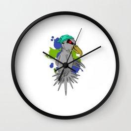 Punk Parrot Wall Clock