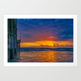 Sunset Behind the Clouds Art Print