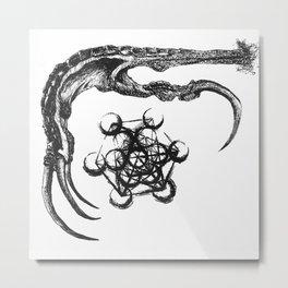 Claw and Metatron Metal Print