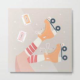Roller skate girl 003 Metal Print