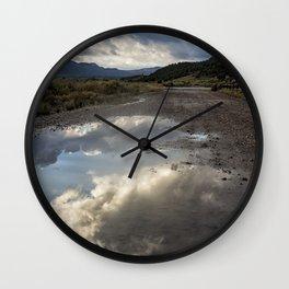 Road Full of Sky Wall Clock