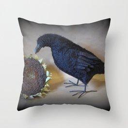 Corvid the Crow Throw Pillow
