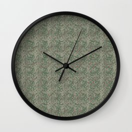 #Antique Look #Christmas #Botanical Wall Clock