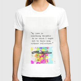 Charlotte Bronte Quotes T-shirt