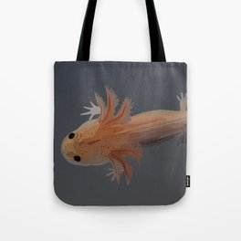 Axolotl Vector in Orange Tote Bag