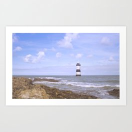 Penmon Point Lighthouse Art Print