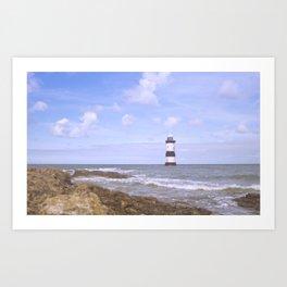 Penmon Point Lighthouse Art Print