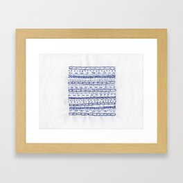 Embroidery B.1 Framed Art Print