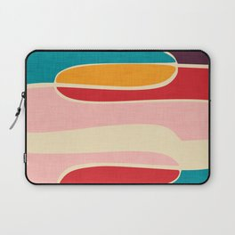 Wondering Waves #homedecor #midcenturydecor Laptop Sleeve