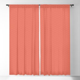 Pantone Living Coral Multi Striped Tiny Scallop Wave Pattern Blackout Curtain