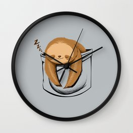 Sloth in a Pocket Wall Clock