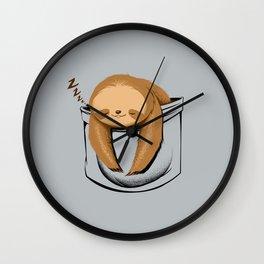 Sloth in a Pocket Wall Clock