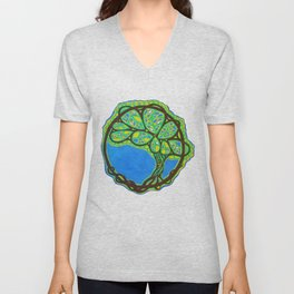 World Tree Unisex V-Neck