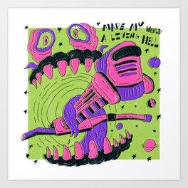 Event Horizon X MF Doom Art Print