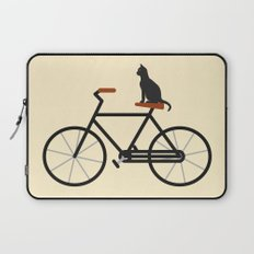 Cat Riding Bike Laptop Sleeve