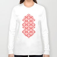 blush Long Sleeve T-shirts featuring blush kiss by Amber Gilded