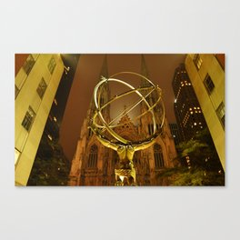 Gold Atlas Canvas Print