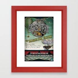 The 2014 Steampunk World's Fair Teaser Poster for The Imagination Factory Framed Art Print