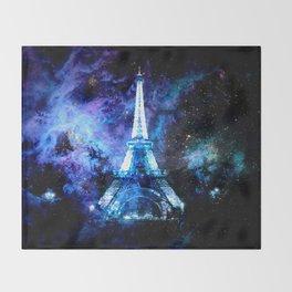paRis galaxy dreams Throw Blanket