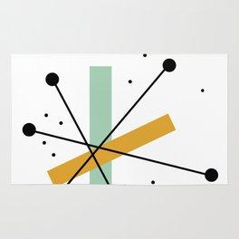 Retro Minimalist Mid Century Modern Pattern Design Rug