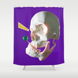 Lollipop skull Shower Curtain