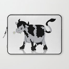 Cow chewing flower Laptop Sleeve