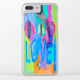 Summer Love   Painting by Elisavet Clear iPhone Case