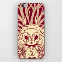 mononoke iPhone & iPod Skins featuring Princess Mononoke by andbloom