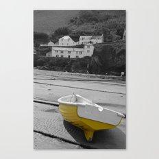 little yellow boat Canvas Print