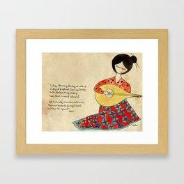 The beauty we love Framed Art Print