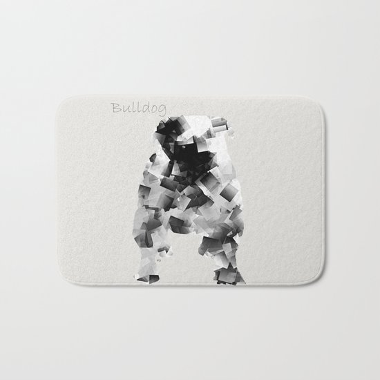 the bulldog  Bath Mat