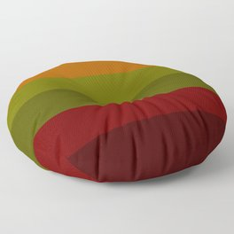 Cool Autumn Leaves - Color Therapy Floor Pillow