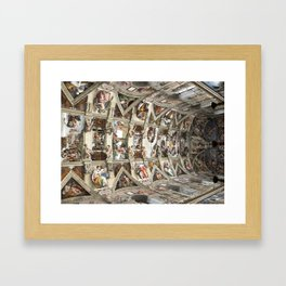 cappella sistina Framed Art Print