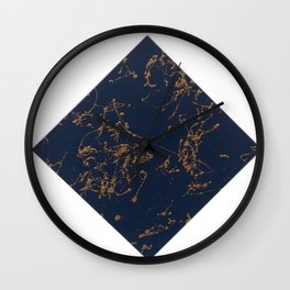Marbled Navy Wall Clock