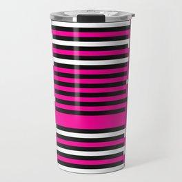 Licorice Bytes, No.6 in Black and Pink Travel Mug